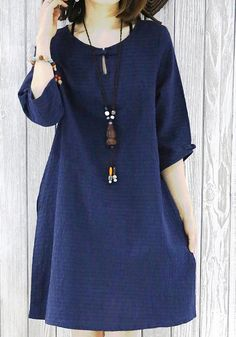 2016 navy sundress cotton summer dresses plus size blouse maternity dress