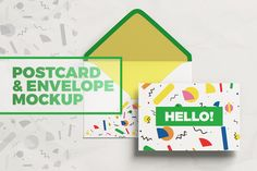 Postcard With Envelope MockUp by coloformia on @creativemarket
