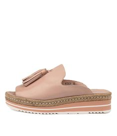 Wanted Shoes - DJANGO & JULIETTE - Ayden Nude Leather - $120 sale Soft Leather, Black Leather, Summer Slide, Leather Material, Shoe Box, You Bag, Loafers, Stylish, Fashion