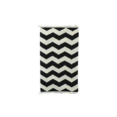 NOVICA 3x5 Handwoven Zigzag Wool Dhurrie Rug from India (430 PLN) ❤ liked on Polyvore featuring home, rugs, area rugs, black, clothing & accessories, zig zag rug, woven doormat, chevron rugs, weave rug and hand woven wool rugs
