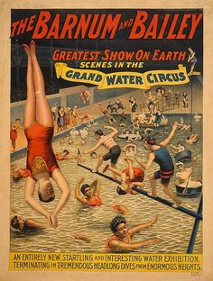 Vintage Barnum Bailey Greatest Show on Earth Poster - 1895
