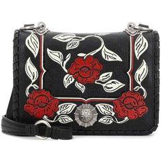 Miu Miu Leather Shoulder Bag (€1.990) ❤ liked on Polyvore featuring bags, handbags, shoulder bags, black, shoulder handbags, man bag, leather hand bags, handbag purse and handbags shoulder bags