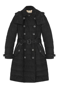 Burberry Brit Quilted Shell Coat, $1,095; net-a-porter.com Courtesy of Retailer - 15 Chic Puffer Jackets You'll Actually Want to Wear - Elle