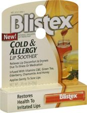 Blistex Cold & Allergy Lip Soother   $1.99 I only use this when my lips are having a allergic reaction when I get a hold of something Im allergic to! and it works great too