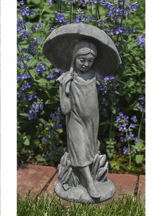 Campania International April Flowers Cast Stone Garden Statue Celebrate Spring With The