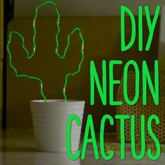DIY Neon Cactus Light