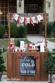 Hot Cocoa for Charity - Hot Cocoa Stand by Giggles Galore