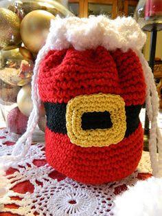 crochet d lane: Santa Pants Purse Free Pattern