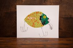 Bring your favorite hobby to your home with these fun and functional Fishing Lure Prints. Choose from three -- Spotted Fish, Striped Fish, or Speckled Frog.