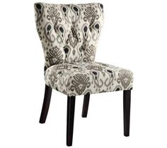 Andrew Medallion Ikat Gray Accent Chair | 55DowningStreet.com