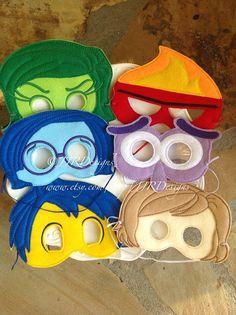 Feelings Mask Joy Mask Sadness Mask Fear Mask Anger by JJRDesigns