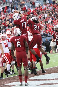 Kenny Miles celebrates his 2nd TD. Capital One Bowl.