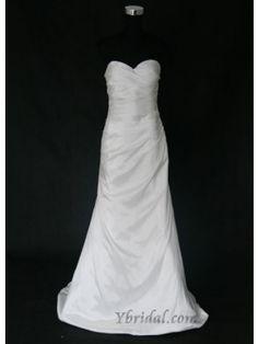 Sheath Sweetheart Sweep Train Teffeta Wedding Dress WSC0051