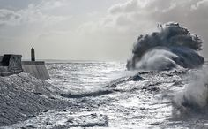 Beautiful Giant Wave at Porthcawl by wentloog, via Flickr