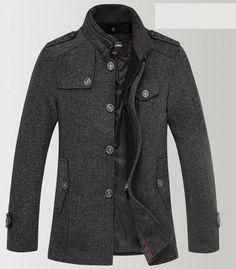 Hot Sale winter men jackets and coats wool coat men trench jacket Casual men wool blends fashion men outdoor clothing