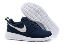 size 40 c5e8e 26399 Cheap Nike Roshe Run Women USA Sale,Nike running Shoes outlet! Nike Roshe  Run Womens Dark Blue White Mesh shoes   -