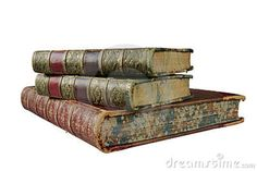 antique books | Stack of antique books, isolated on white background, free copy space ...