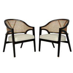 Dunbar Y-back lounge chairs - Edward Wormley