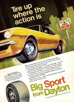 "1968 Daytona Tires Ad ""Chevy Camaro"""