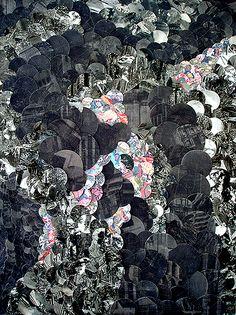 Eva Eun-Sil-Han, 2010/2011, Mixed media on canvas, 100 x 80 cm