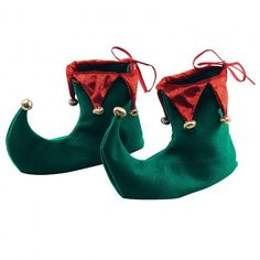 Santa's Little Helper Red and Green Elf Shoe Covers. These Elf shoes are green with red velor trim and decorated with metallic gold pom poms. Unisex -One size fits most adults. Order Quantity: 1 Pair of Elf Shoes Product Code: Elf Fancy Dress, Christmas Fancy Dress, Christmas Shoes, Christmas Ideas, Fancy Dress Accessories, Party Accessories, Costume Accessories, Xmas Elf, Christmas Costumes