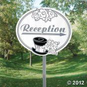 """Wedding """"Reception"""" Yard Sign"""