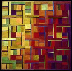 Beautiful - the colors and design.  The way the quilt moves from light to dark and then the slivers of highlighting colors.
