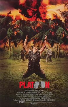 Platoon won best picture in 1986 and was nominated for best supporting actors (Tom Berenger & Willem Dafoe) and won the Golden Globe for best picture-drama