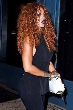 Rihanna curly hair                                                                                                                                                                                 More