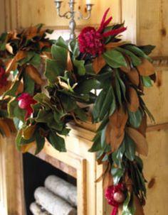 Magnolia Christmas garland