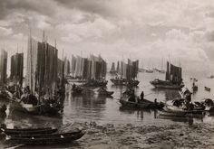 vintage paratroopers photographs | National Geographic's Vintage  Macao Harbor 1931