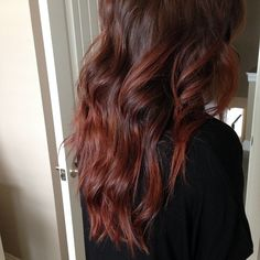 Redken Shades EQ Cherry Cola + Rocket Fire (50/50) applied it to the bottom 3/4's of hair {SC030814}