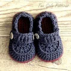 Crochet patterns Baby Boy Booties The by TwoGirlsPatterns