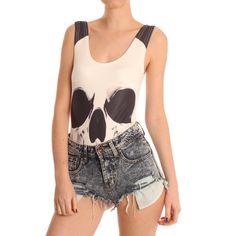 Hearts & Bows White Kinney Skull Body www.ark.co.uk #skull #bodysuit #vest #halloween