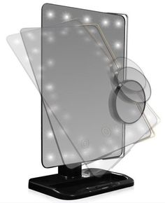 #Bonanza #Mirror #Lighted #Vanity #Makeup #Cosmetic #LED #Light #Tabletop #Portable #Magnifying 10X #LightMagnifying