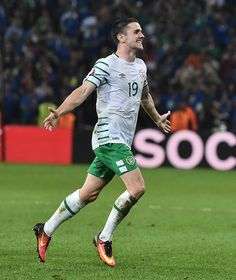 Lille , France - 22 June Robbie Brady of Republic of Ireland at the end of the game during the UEFA Euro 2016 Group E match between Italy and Republic of Ireland at Stade Pierre-Mauroy in Lille, France. Uefa Euro 2016, 2016 Pictures, The End Game, World Football, European Championships, Pro Cycling, World Of Sports, Ireland, June