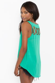 now i have to find a seafoam green top for our engagement pics.. so far, this is the only one i've seen! -- Lattice Chiffon Tank