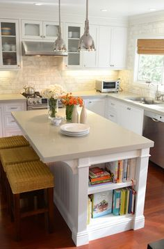 Images Of Kitchen Peninsulas With Seating And Bookcase Google