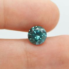 Natural Loose Diamond 2 Carat Blue Enhanced Color SI1 Round Certified For Ring #MyDiamonds