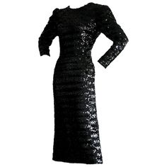 For Sale on - Stunning vintage Paco Rabanne black sequin dress! Features all-over sequins, and a sexy. plunging back. The perfect little black dress! Hidden zipper up Red Checkered Dress, Black Sequin Dress, Black Sequins, Nice Dresses, Amazing Dresses, Formal Dresses, Wool Dress, Lace Dress, Perfect Little Black Dress