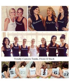 Bridesmaid Tank Tops, Bridal Party Tank Tops, Wedding Party Shirts, Custom Bridal Tanks, Bachelorette Tanks, Team Bride Tanks, Brides Tanks on Etsy, $18.00