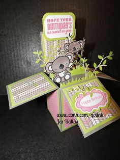 Got Ink?: Cute Koalas Pop-Up Box Card