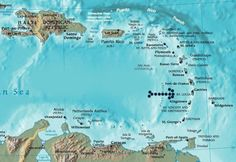 caribbean-map-east.jpg 701×482 pixels Take this coupon and travels to the CUBA. #airbnb #airbnbcoupon #cuba