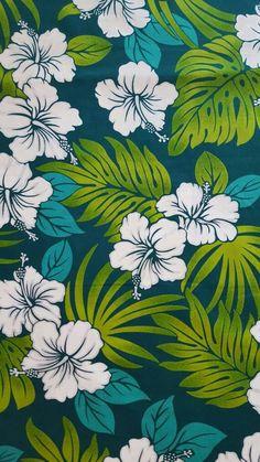 Trendtex Hawaiian Print Cotton Fabric Koki/'o Ke/'oke/'o /& /'Ohe on Black Per 1//2 Y