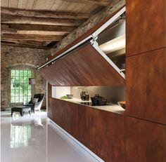 loft einrichtung-geheimtür-küche gestaltung
