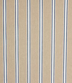 Deckchair wicket stripe indigo is a stylish blue and beige striped deckchair fabric  http://www.justfabrics.co.uk/curtain-fabric-upholstery/indigo-deckchair-wicket-fabric/