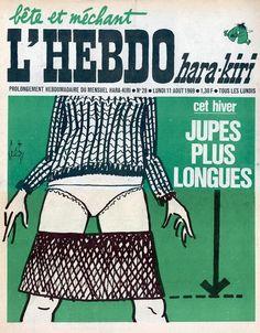 L'Hebdo Hara Kiri - # 28 - 11 Août 1969 - Couverture : Gébé