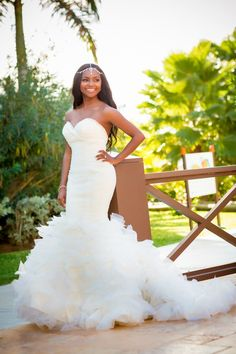 FABULOUS dress by Winnie Couture | Dwayne Watkins Photography | via @Bajan Wed
