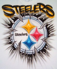 Custom Airbrush T Shirt Steelers Football Team by ...