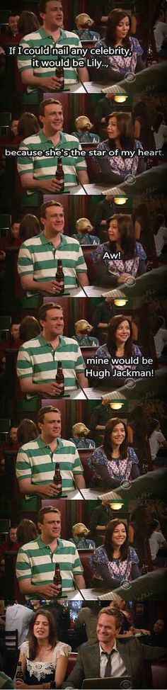 She's the star of my heart. funny scene in picture from the how i met your mother tv series